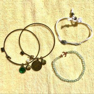 Set of 4 Little Mermaid bracelets